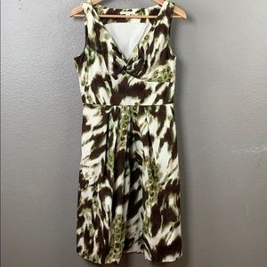 Banana Republic abstract floral fit & flare dress